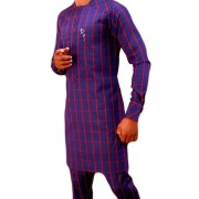 PURPLE CHECK TRADITIONAL...