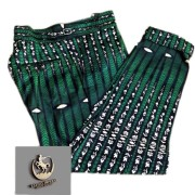 ESTILO GREEN PANTS WITH PRINTS
