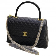 CHANEL FLAP BAG WITH TOP...