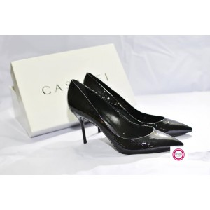 BLACK GLOSSY SHOE BY CASADEI