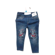 H & M UNICORN DESIGN JEANS...