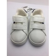 H & M WHITE COTTON SNEAKERS