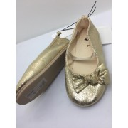 H & M METALLIC GOLD FLATS...