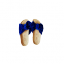 BLUE FEMALE BOWTIE SLIPPERS