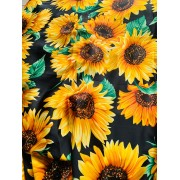 SUN FLOWER RAW SILK