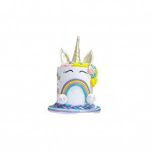 COLOURED UNICORN 8 INCH 4 LAYERED CAKE